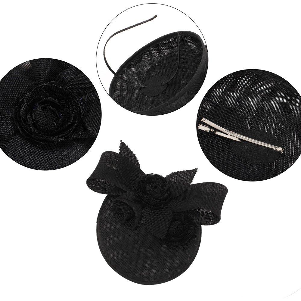 LeahWard Womens Mesh Hat Fascinator For Wedding Headpiece Elegant Classical Feminine Style