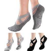 KEENOO Non-Slip Grips Socks for Women, Ideal Black Skid Socks for Yoga, Dance, Workout, Pilates, Barre, Ballet, Fitness…