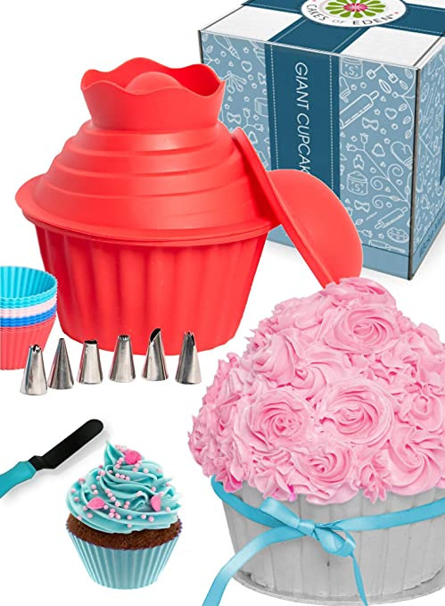 29pcs Giant Cupcake Pan Silicone Molds
