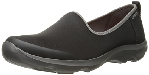 19b1d8ed6 crocs Women s Busy Day Stretch Skimmer Black Graphite Sneakers-W4 (203195)