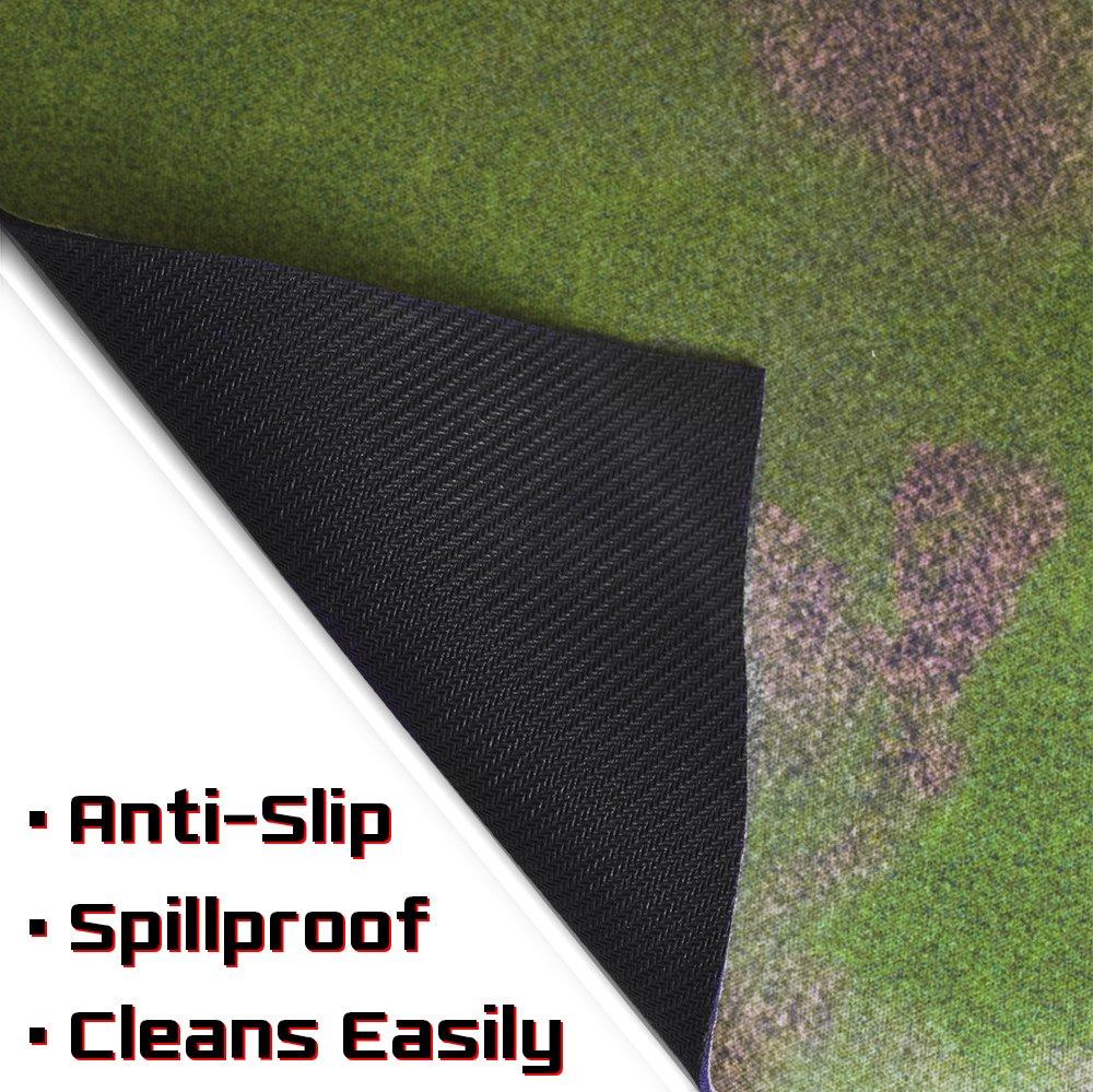 Stratagem 6' x 4' Open Field Grass Terrain Neoprene Tabletop Wargaming Grass Field Battlemat Carrying Case by Stratagem (Image #6)
