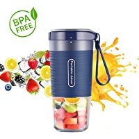 Portable Blender, Cordless Personal Blender Juicer, Mini Mixer, Waterproof Smoothie Blender With USB Rechargeable, BPA…