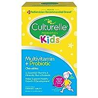 Culturelle Kids Complete Multivitamin + Probiotic Chewable - Digestive & Immune...