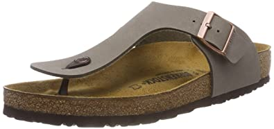 095ac509899 Birkenstock Women s Gizeh Birko Flor Regular Fit Toe Post Sandal  Stone-Stone-3.5
