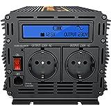 Inverseur électrique/transformateur de voltage à onde sinusoïdale pure LCD 1500 à 3000 W/12 V à 220 V