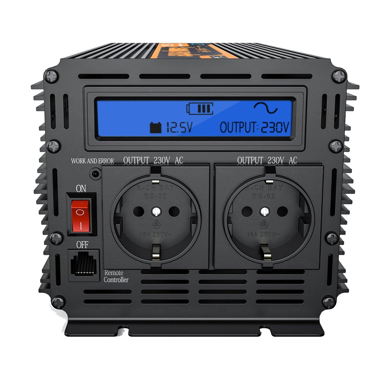 Inversor electrico de w transformador de voltaje de v a v de