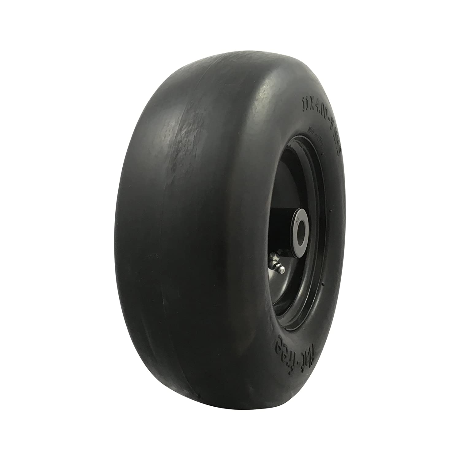 MARASTAR 00232 Universal Fit Flat Free 11 x4.00-5 Lawnmower Tire Assembly