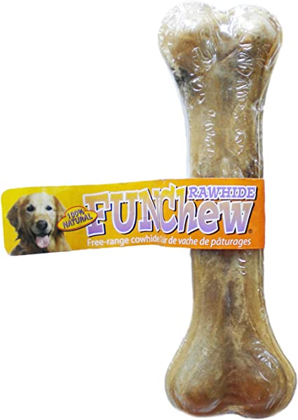 11cm Knotted Rawhide Chewing Bones for Small//Medium Dogs Pack of 5