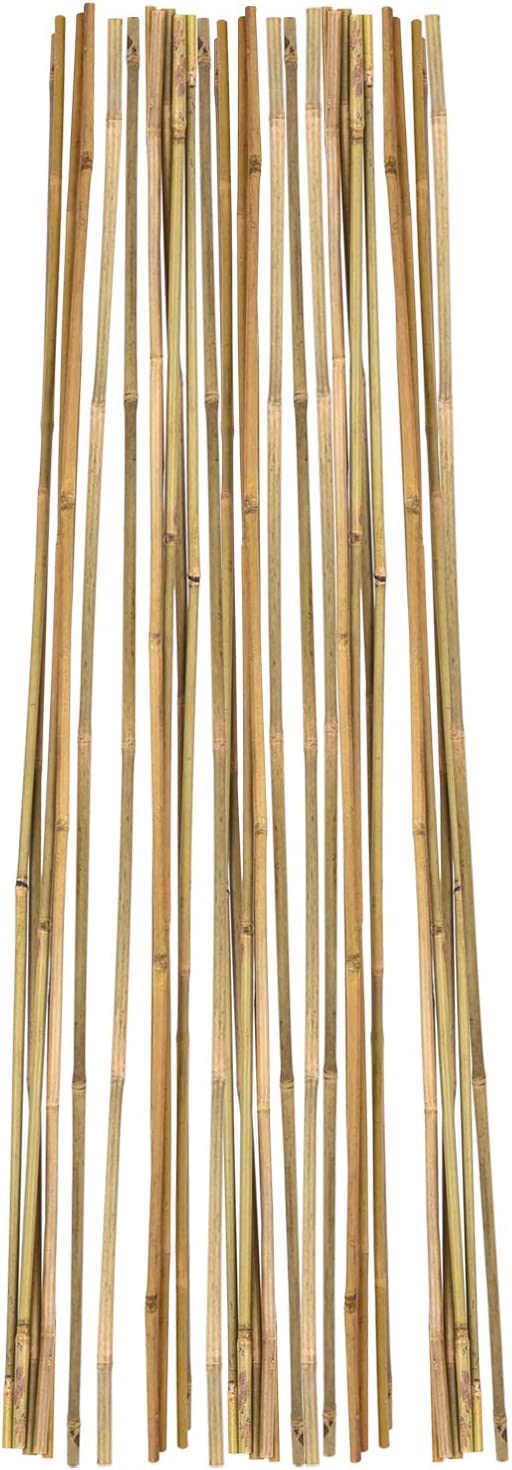 ALLRoad Bamboo Garden Stakes Plant Sticks Support Wooden for Tomatoes, Trees,4 Feet Bamboo Stakes,Pack of 25