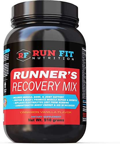 Runner s Recovery Mix – All in One Recovery – Carbs, Protein, BCAAs, Electrolytes More – Muscle, Bone, Joint – Recovery Faster Than Ever
