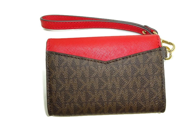 bfa17fe3cab Amazon.com: MICHAEL Michael Kors Women's Honey Brown/Red Wallet: Shoes