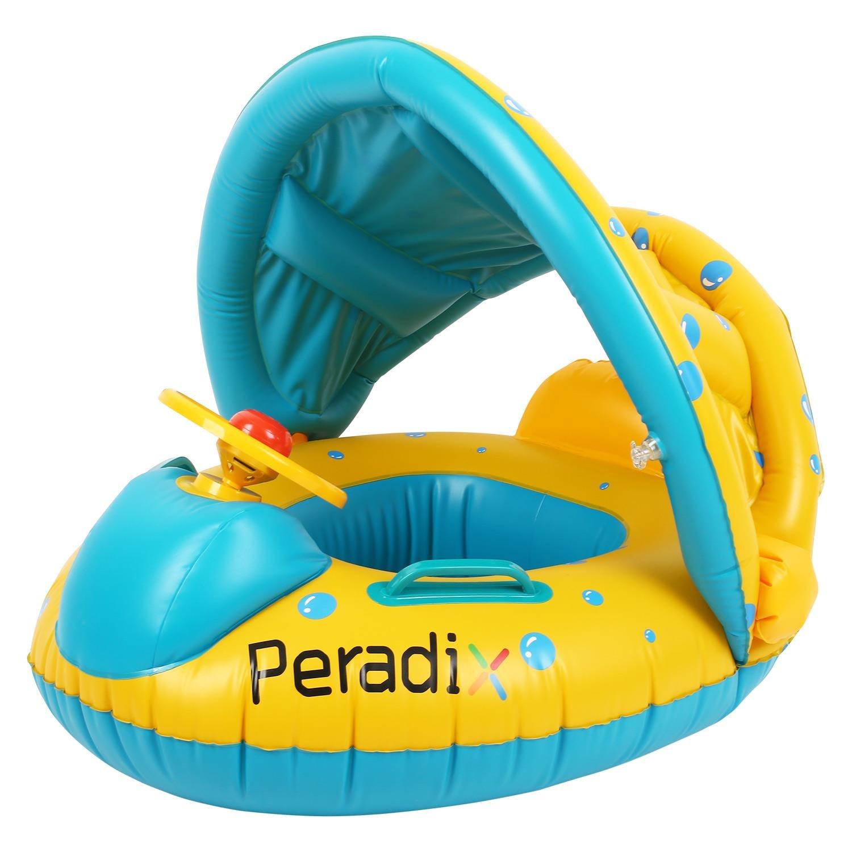 Peradix Piscine Gonflable Enfant avec Pare-Soleil