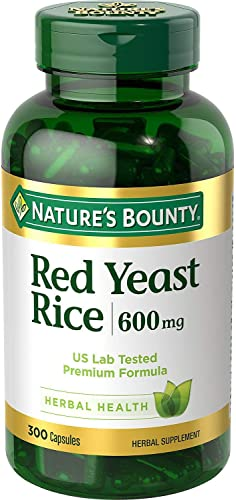 Nature s Bounty Red Yeast Rice 600 mg Capsules 250 ea Pack of 2