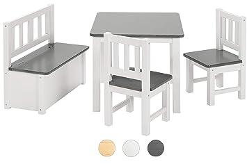 Bomi Kindermöbel Tisch Und Stühle Kindertruhenbank Aus Kiefer