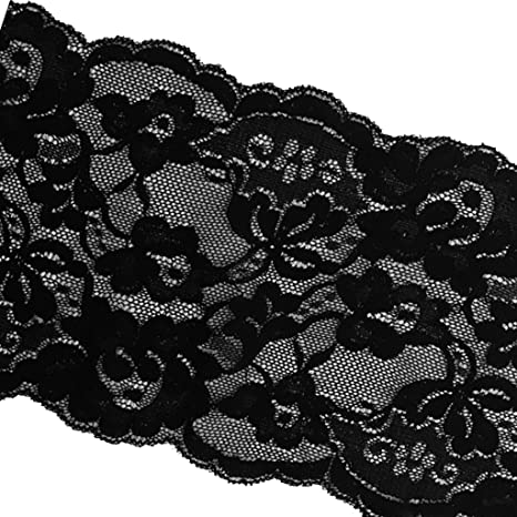 5 Yards 15cm Stretch Lace Ribbon Floral Trim Sewing Flower Lace Fabric Appliques