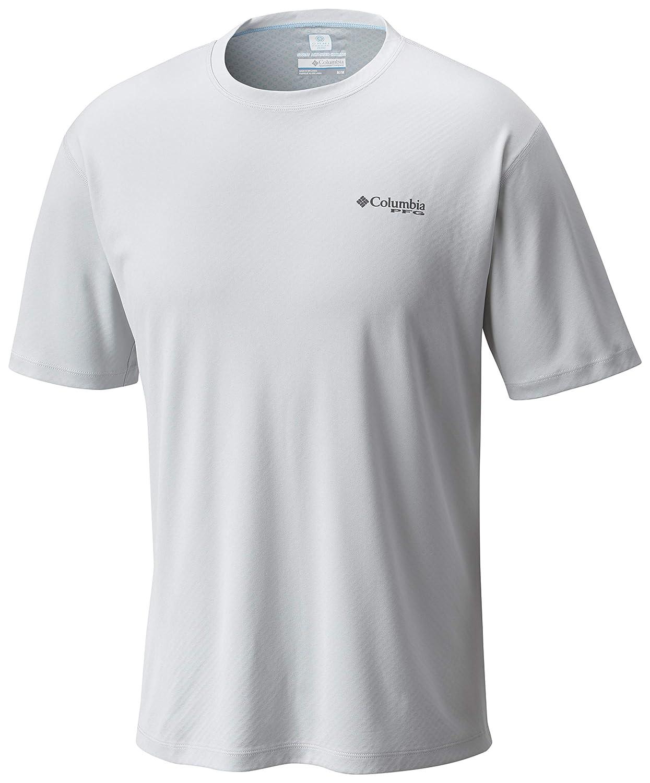 Columbia Men's PFG ZERO Rules Short Sleeve Shirt, UV Sun Protection, Moisture Wicking Fabric