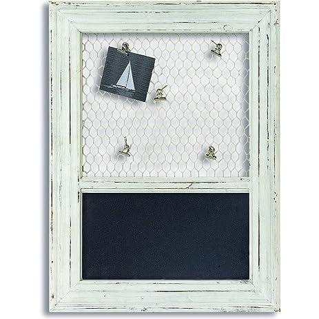 Amazon.com : The Cape Cod Chalkboard with Chicken Wire and Memo ...