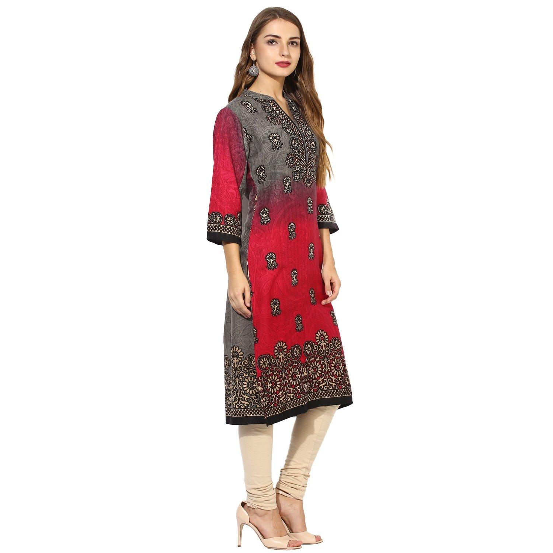 Lagi Kurtis Ethnic Women Kurta Kurti Tunic Digital Print Top Dress Casual Wear New Launch by Lagi (Image #4)