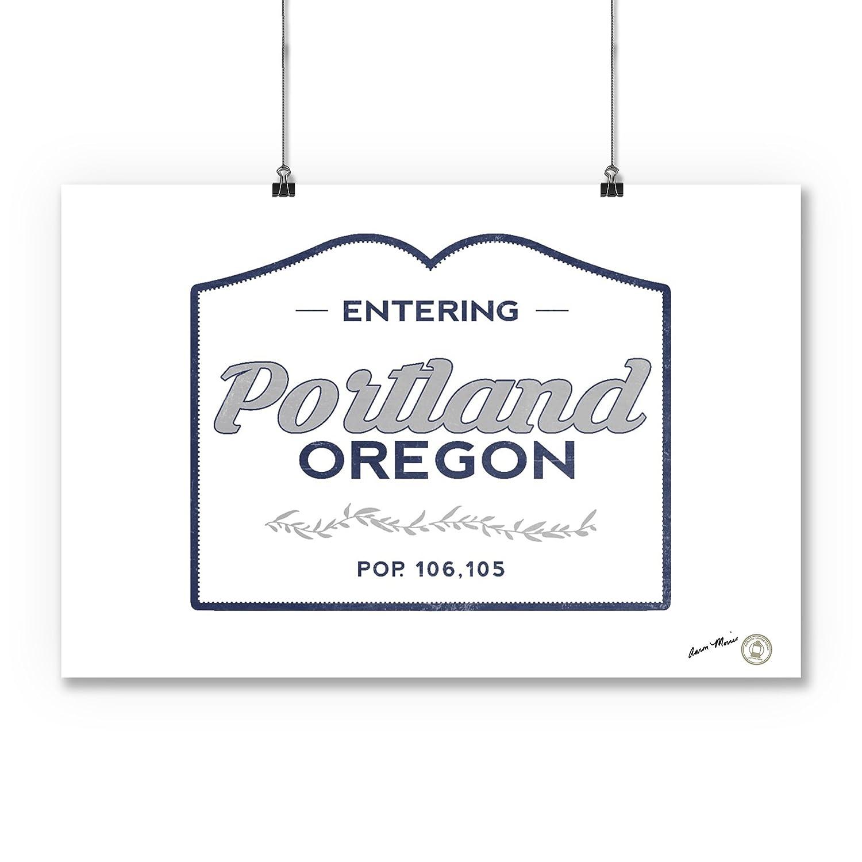 16x24 SIGNED Print Master Art Print - Wall Decor Poster Now Entering Blue 67507 Oregon Portland