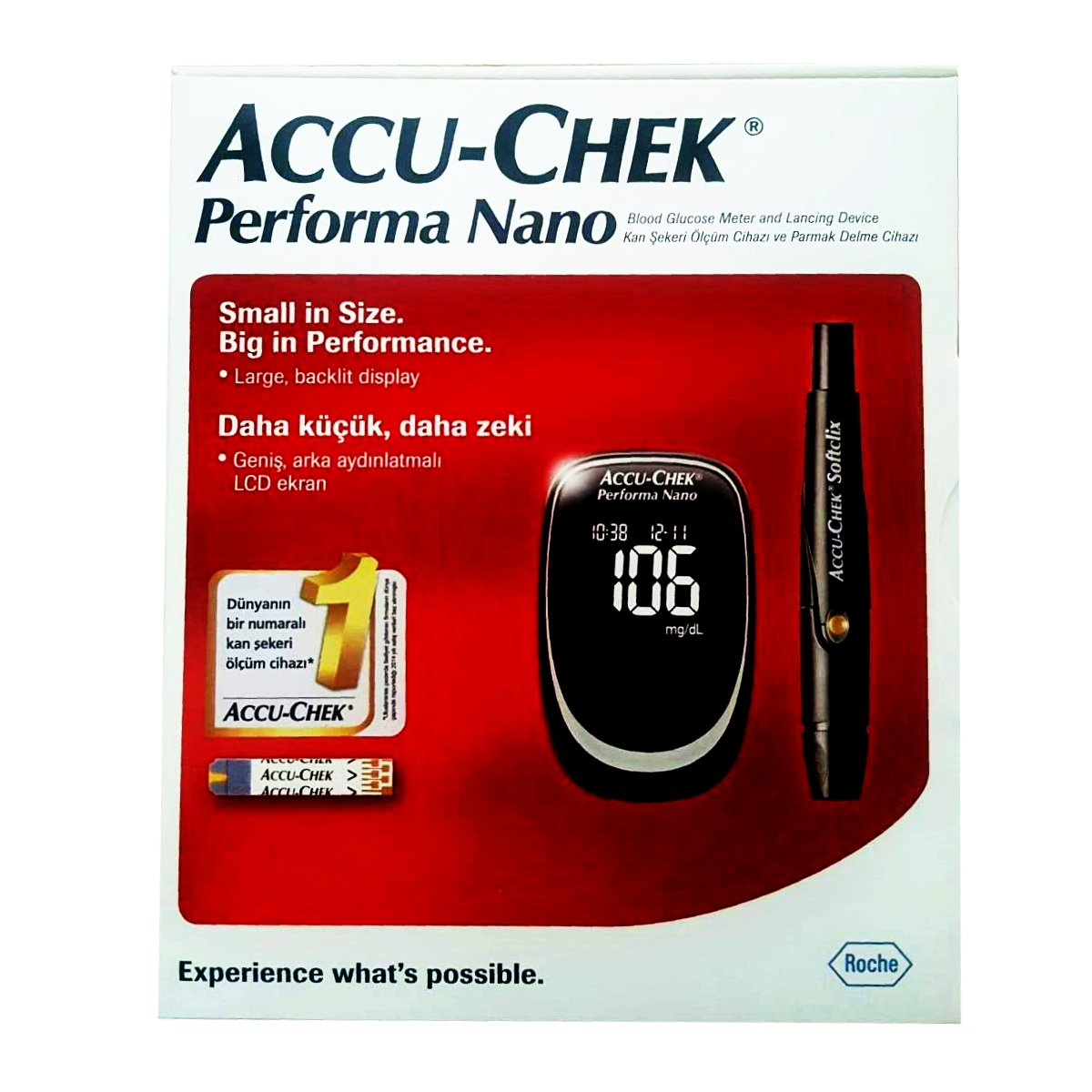 Accu Chek Check Performa Nano Glucose Monitor Sugar Level