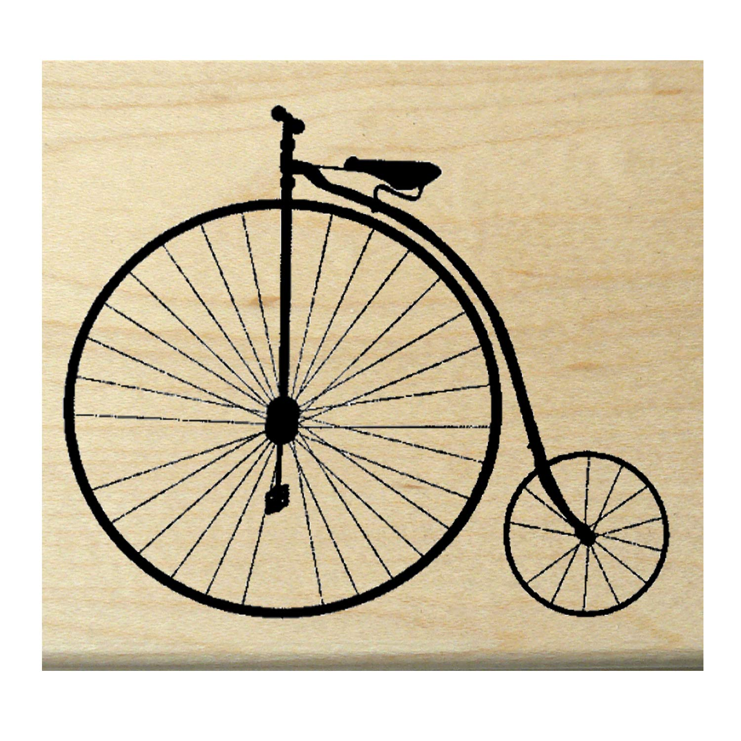 P16 Antique Bicycle Rubber Stamp WM