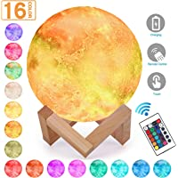 Magicfly Starry Night Light, 16 Colors LED Moon Stars Lamp, Dimmable with Tap Control, Rechargeable Lunar Light Home Decorative Night Light for Children Kids Baby Bedroom