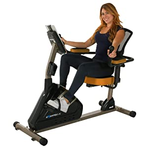 Exerpeutic 4000 Magnetic Recumbent Bike with 12 Workout Programs