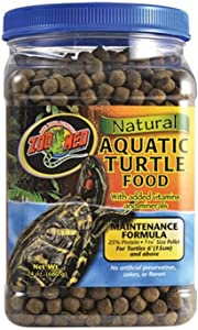 Zoo Med Natural Aquatic Turtle Food, Maintenance Formula, 24-Ounce
