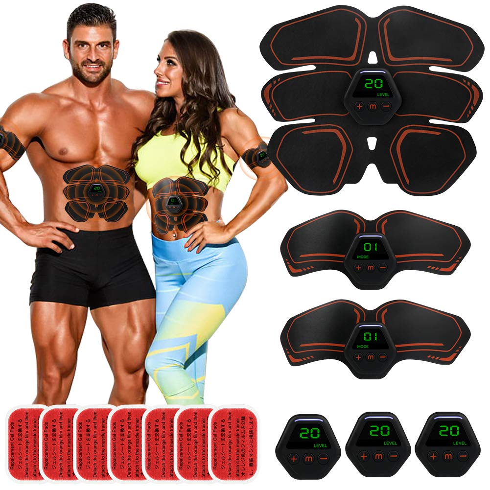 EMS Abdominal Muscle Cordless Abs Muscle Trainer Smart AB Toning Abs Training