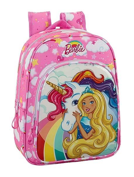 Barbie 611810185 2018 Mochila Infantil, 34 cm, 10 litros, Rosa Claro