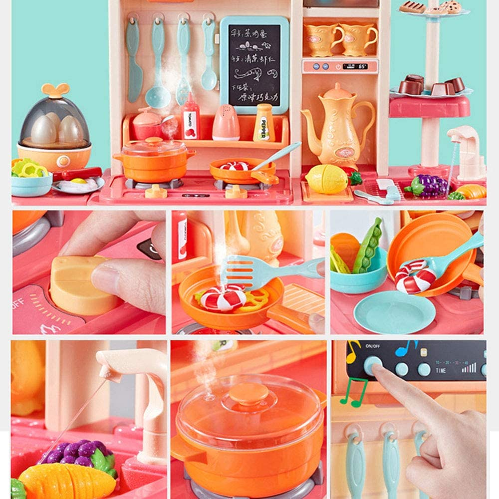 Childrens Kitchen Toy Set 42 PCS Kitchen Pretend Play Toys for Kids Little Chef Pretend Role Play Simulation Game