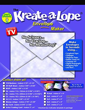 AmazonCom KreateALope Dl Business Envelope Template