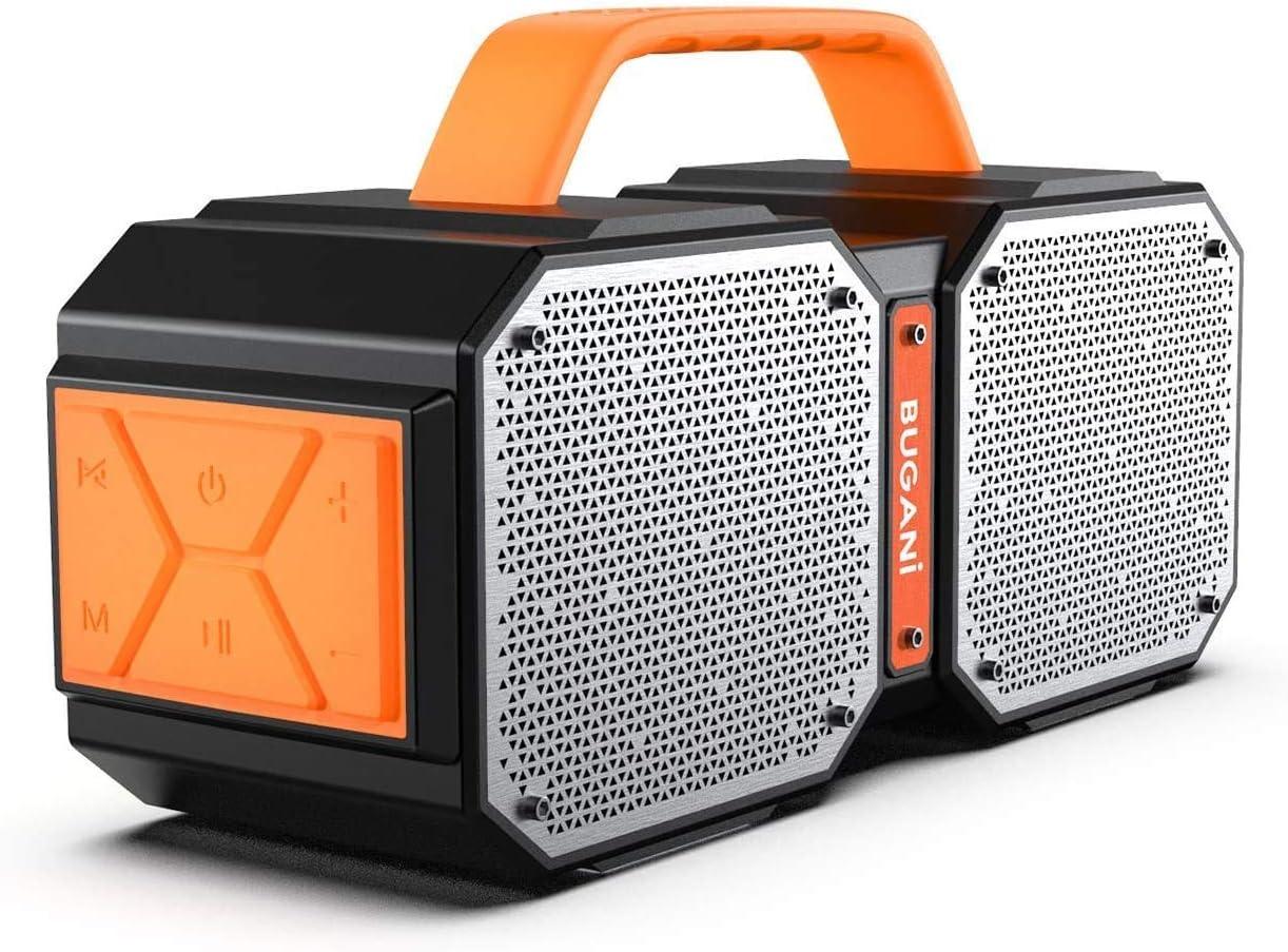 Altavoz Bluetooth 5.0+, Bugani M83 portátil al aire libre impermeable Bluetooth altavoz, calidad estéreo inalámbrico de 40 W con graves en auge,llamadas manos libres, TWS, 12.7 pulgadas x 6.7 pulgadas