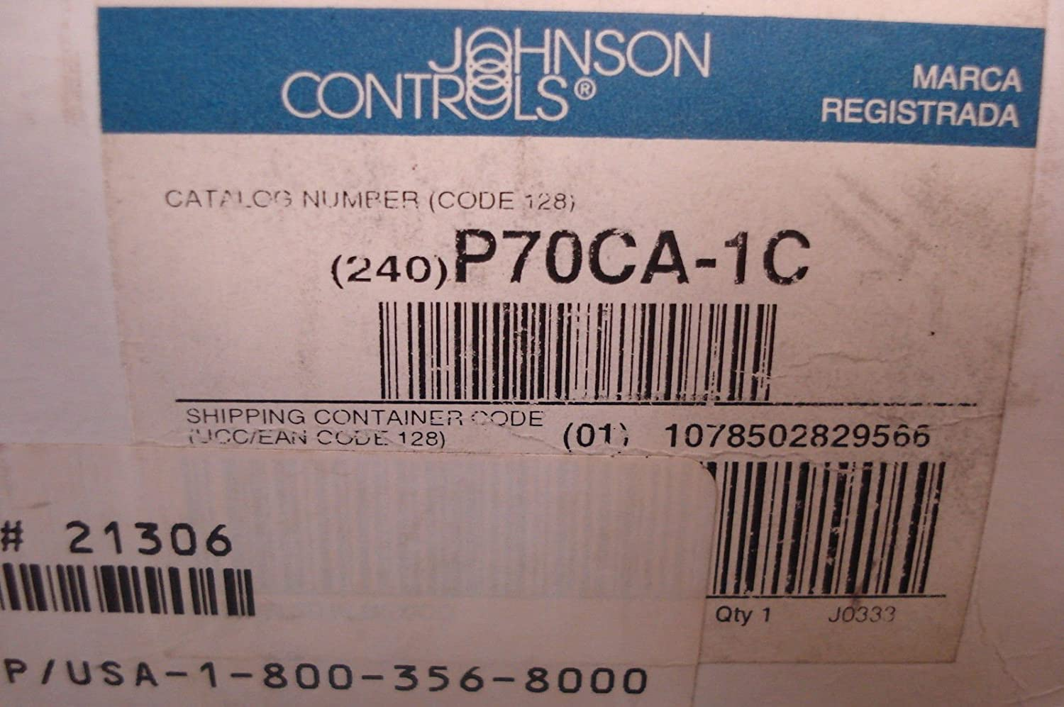 Open High 36 Capillary Johnson Controls P70CA-1C All-Range Control for Non-Corrosive Refrigerants Single-Pole 1//4 Flare Nut 100 psi Maximum Working Pressure Single-Throw