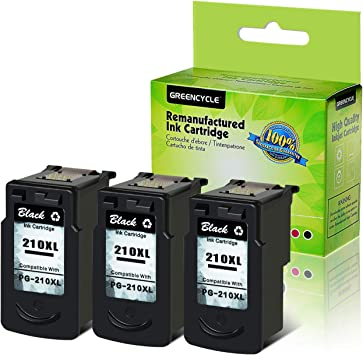 4pk PG-210XL PG210XL for Canon Black Ink High Yield Cartridge MP240 MP250 MX420