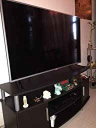 ameriwood home carson tv stand for tvs up to 50 inches wide cherry black kitchen. Black Bedroom Furniture Sets. Home Design Ideas