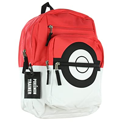 BIOWORLD Pokemon Pokeball Backpack with Trainer Bag Charm: Toys & Games