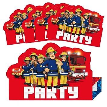Sam, el bombero Invitación Fiesta | 8 Piezas Niños Fiesta ...