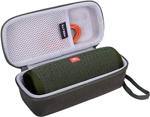 LTGEM EVA Hard Case for JBL FLIP 5 Waterproof Portable Bluetooth Speaker Green