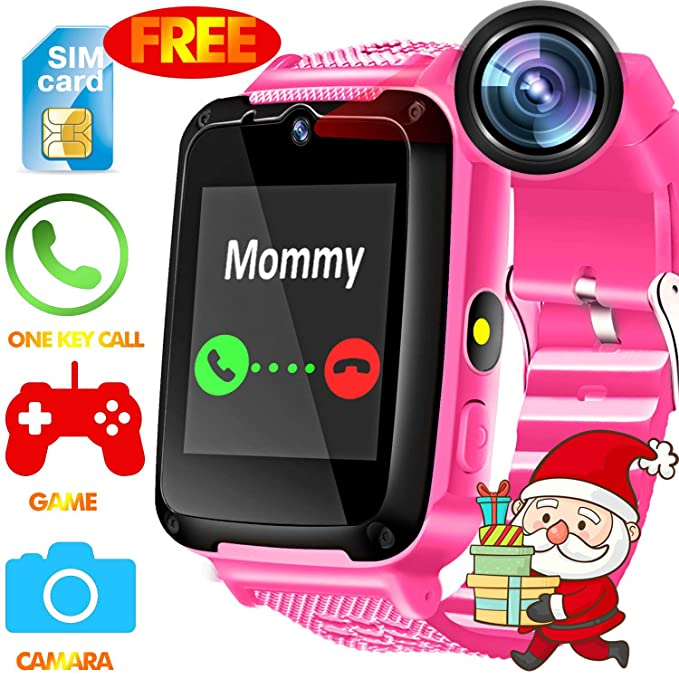 Kids Smart Watch Phone - [Speedtalk SIM Included] Kids Smartwatch with Games Camera SIM Card Slot for Kids Boys Girls Cellphone Watch Wearable Wristbands for Birthday Thanksgiving Christmas Gift