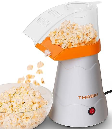 Amazon.com: TWOBIU Popcorn Machine, Popcorn Maker, Hot Air Popcorn ...