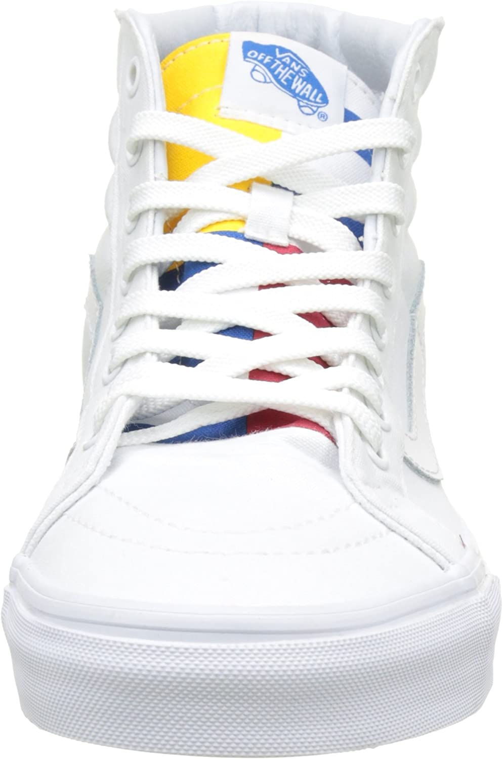 Vans Men's High-Top Trainers True White Blue Red