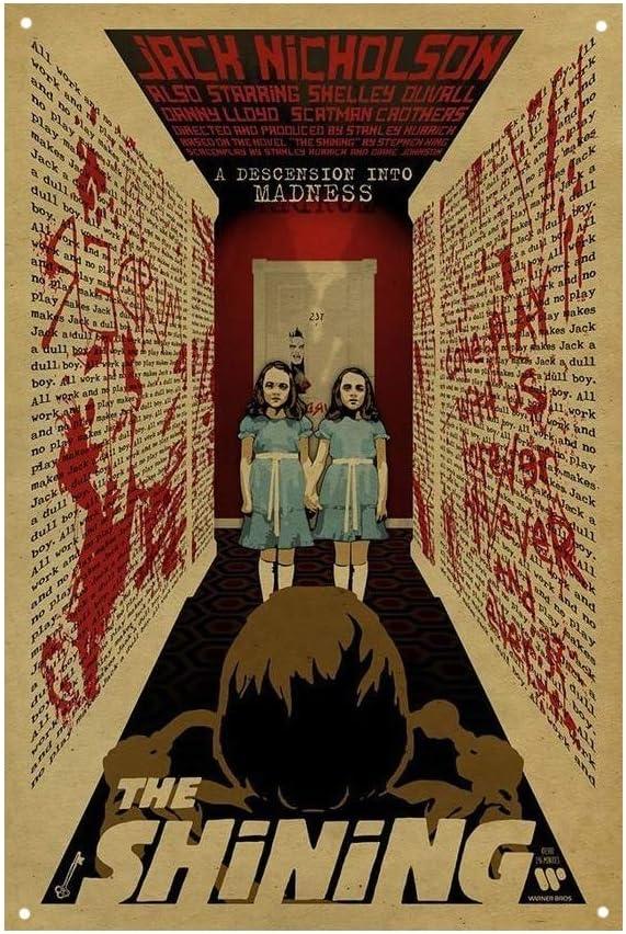 The Shining Film Movie Vintage Retro Tin Sign Metal Sign TIN Sign 7.8X11.8 INCH