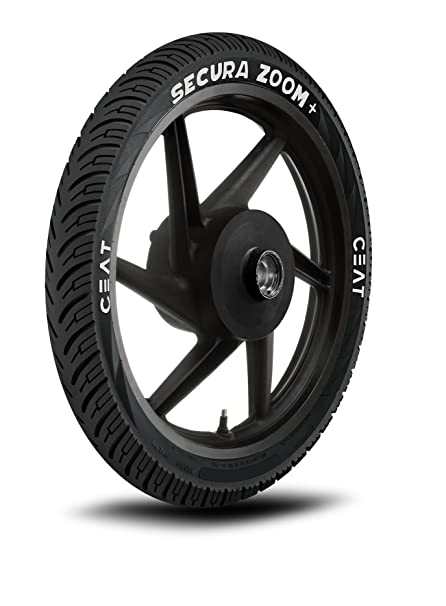 Ceat Secura Zoom+ 80/100-18 54P Tubeless Bike Tyre, Rear (Home Delivery)