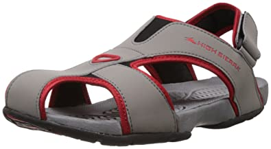 39d00e1afdedb Image Unavailable. Image not available for. Colour: High Sierra Men's Grey  Sandals and Floaters ...