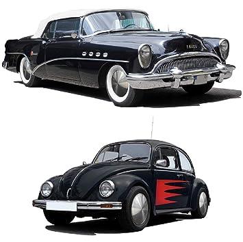 Universal passende Tapacubos (1 pieza) 13 pulgadas - Moon Caps para automóviles, Oldtimer (de acero inoxidable): Amazon.es: Coche y moto