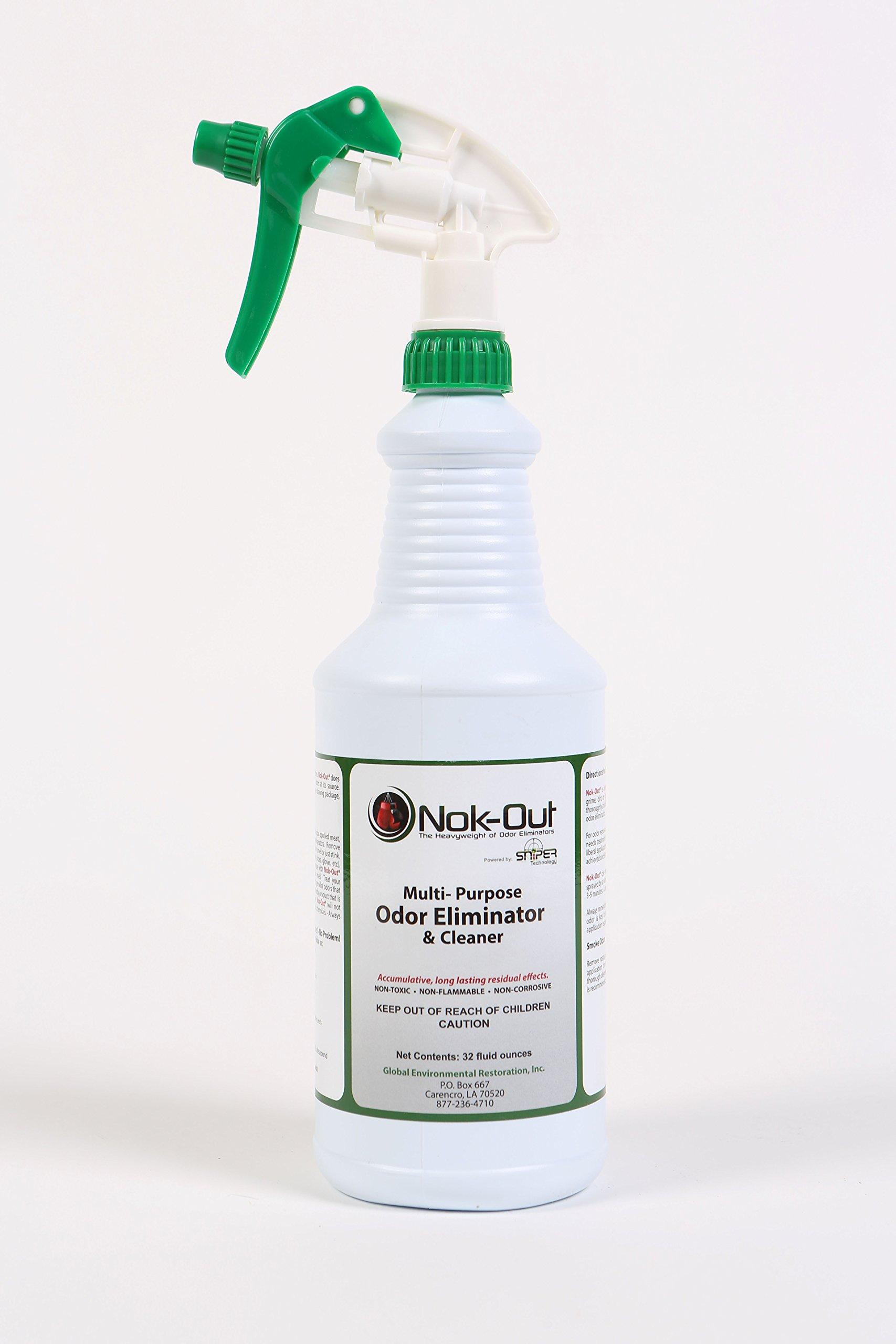 Nok-Out Odor Eliminator, 32 Oz Trigger Spray, Multi-Purpose Odor Eliminator