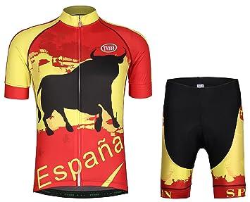 tvsss Hombres Camisetas de Ciclismo conjuntos bandera serie ...
