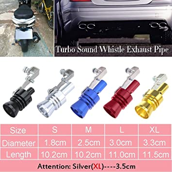 Naomi Universal Car Vehicle Turbo Sound Whistle Exhaust Pipe Tailpipe Fake BOV Blow-off Valve