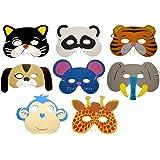 Universally nature Set di 20 maschere di schiuma per bambini a forma di animali
